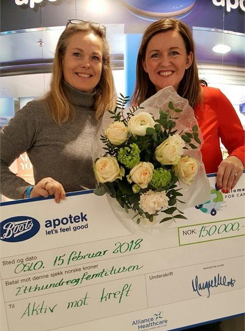 Boots apotek støtter Aktiv mot kreft