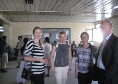 2014: Delegasjonen fra OUS ankommer Addis Ababa i 2014