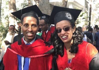 2017: To av de første onkologene i Etiopia.