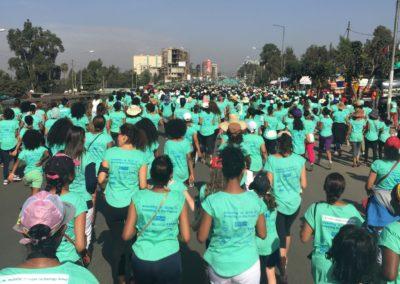2016: Vi deltar på gateløp for kvinner under oppholdet i Etiopia.